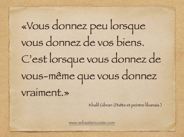 Citations de Khalil Gibran