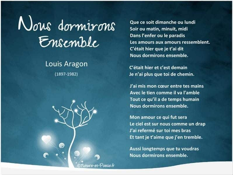 Inspirant.fr 21150382_804629176382991_1346949643418227429_n Nous dormirons ensemble. Louis Aragon