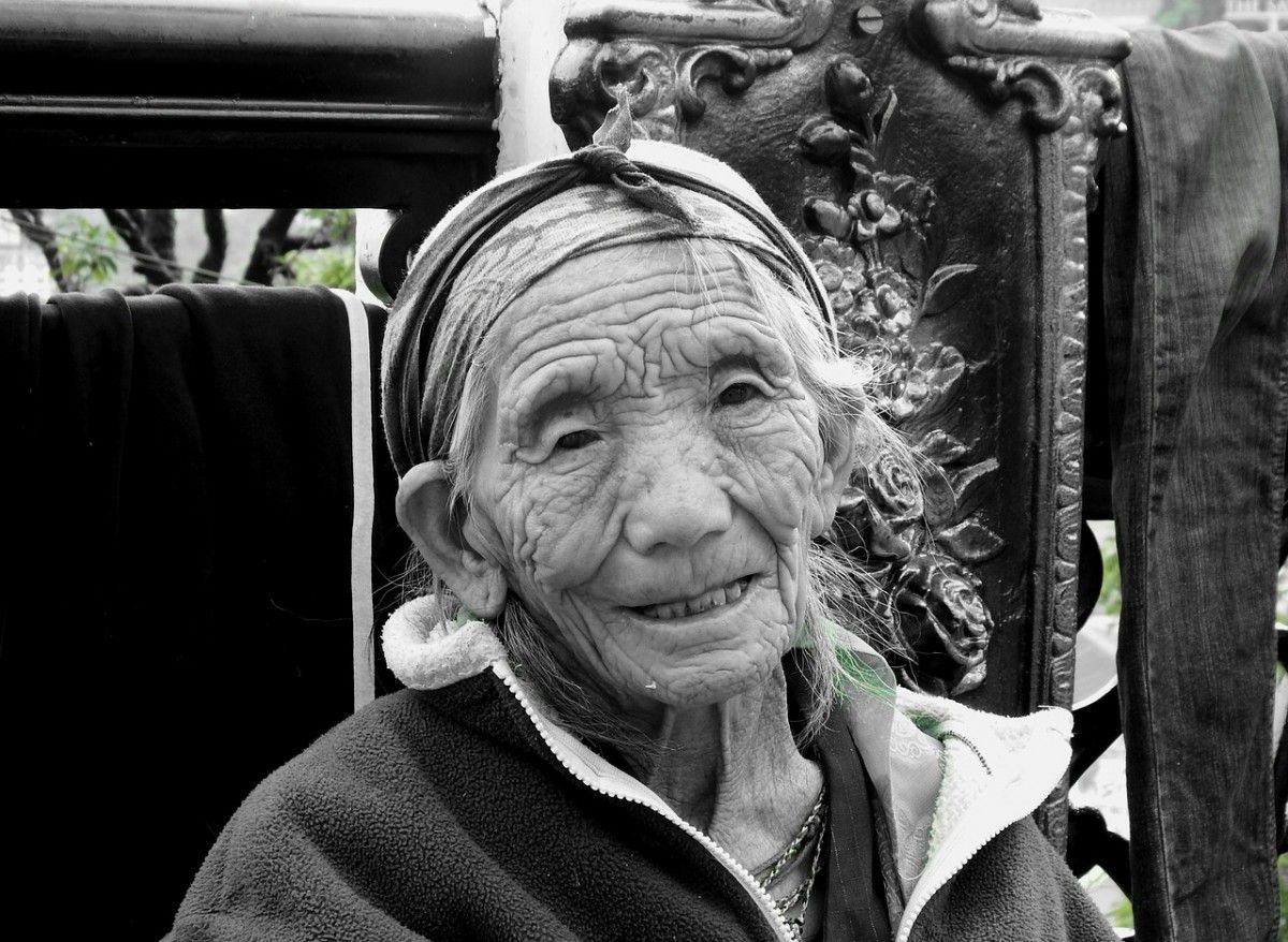 vieille dame chinoise