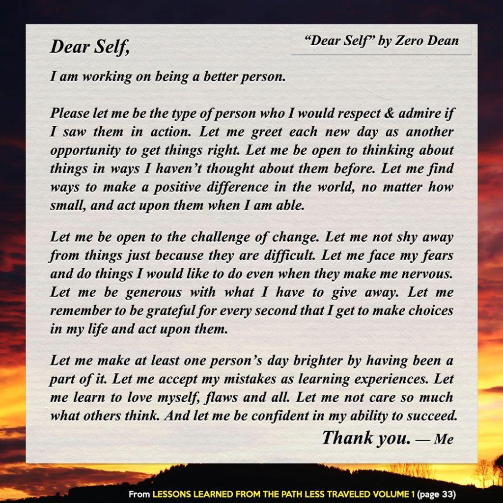 Lettre à moi-même
